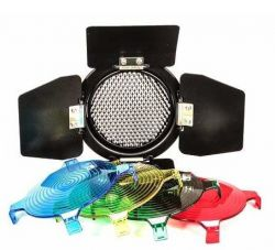 Rebatedor para Flashes K150A, 160 e 250DI Greika (Barndoor com filtros cores)