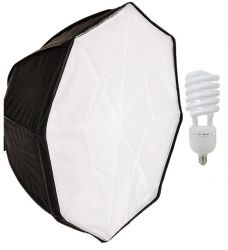 Iluminador Octogonal 50 Cm (135W) Luz Contínua Fria (2 itens)