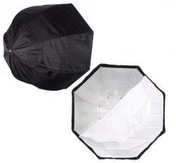 Softbox Sombrinha Octogonal 120 Cm Universal para Iluminação de Flash Estúdio, Flash Speedlite, Luz Contínua Ideal para Estúdio Foto Vídeo Profissional