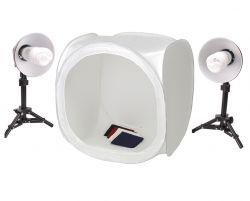 Kit Tenda 60x60x60 Cabana com Tripé Difusores e Lâmpadas Fria 90W