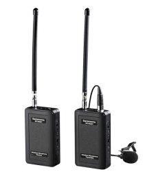 Microfone de Lapela Sem Fio VHF 4 Canais Audio até 60M - SR-WM4C