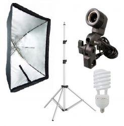Kit 135W Softbox Sombrinha 60x90, Tripé Robusto, Suporte E27 Para Foto e Vídeo