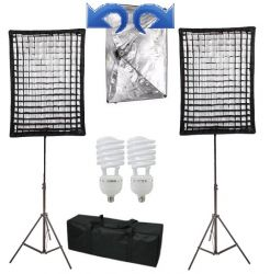 Kit Ágata II 270W Soft Star Light com Grid 50x70 Luz Fria Contínua