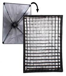 Softbox Light 50x70 Grid Sem Lâmpada para Luz Contínua Fria