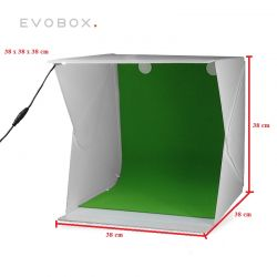 Mini Estudio Portatil para Still com leds - Ideal para Foto Produto e-commerce Evo Box