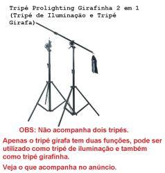 Tripé ProlightingGirafinha 2 em 1 (Tripé de Iluminação e Tripé Girafa)
