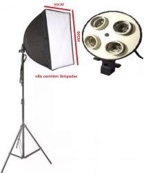 Kit Júnior EK-20 Softbox (Haze) 60x60 Para Luz Fria  Sem Lâmpadas