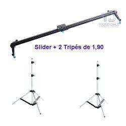 Kit Slider 100cm Godox  com dois Tripés de 1,90m