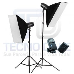 Kit EG 250B  Com Softbox 60x90 e Radio Flash CT 04