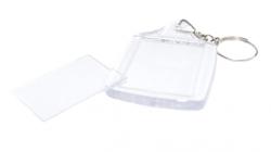 Chaveiro Transparente Acrílico Para Foto 3x4  - Pacote com 50  unidades