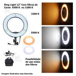 Iluminador RL 12 Led Ring Light Circular (Sem Tripé)