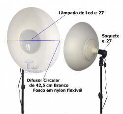 Difusor Circular Beauty Dish  Led 6500k  220V