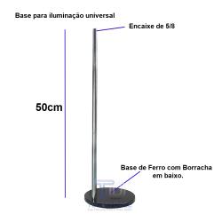 Tripé tipo Base com Haste de 50 cm