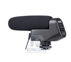 Microfone Direcional Externo Stereo Boya Vm-600