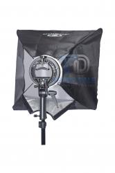 Softbox 60x60 cm e Suporte p/ Flash Dedicado Speedlite e Modificadores Bowens Universal