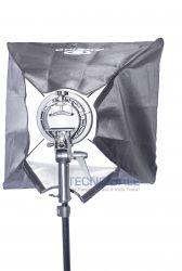 Kit Softbox 60x60 cm  Suporte para Flash Speedlight Universal e Tripé 2M para Fotografia encaixe Bowens