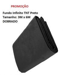 Fundo Infinito Tecido TNT (DOBRADO) 3Mx6M PRETO Estúdio Fotográfico
