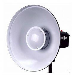 Refletor Branco Beauty Dish 42cm Com Colmeia  Encaixe Bowens para flash, tocha e iluminadores