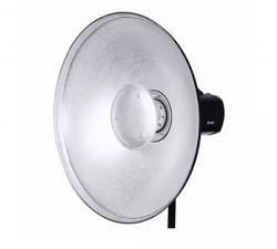 Beauty Dish Prata 42cm Com Colmeia e Anel bowens para Flash de Estúdio K 150, K160 e DI 250 Greika