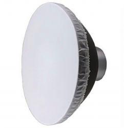 Refletor Prata Beauty Dish 42cm Com Colmeia Encaixe Bowens para flash, tocha e iluminadores