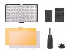 Iluminador de Led TL-160S - 160 Leds C/ Suporte de Mão, Filtro, Bateria e Carregador Greika