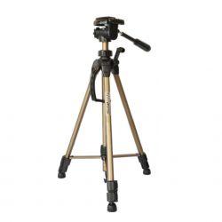 Tripé WT 3730 Altura 58cm  a 152cm. Suporta 3kg. Ideal para fotografia com câmera DSLR