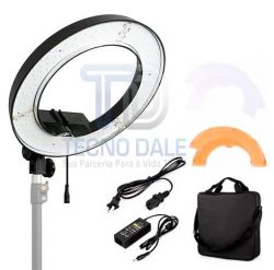 Ring Light RL 18  256 Leds Greika 18'' 60w C/ Tripé 2M p/ Maquiagem