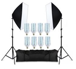 Kit Softbox Lampadas Led  176w Pk-sb01 Bivolt Led 22w Cada Lâmpada para Fotografia e Vídeo