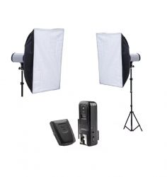 Kit Estúdio 500W Softbox Haze 50x70 Cm Flashes DI 250 Greika Godox