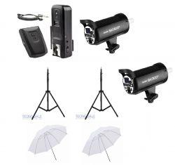 Kit ApoloII  SK300II (com entrada USB) 600w para estúdio fotográfico  Greika/Godox