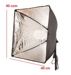 Kit de Iluminação 40x40 Cm Soft Star Light Luz Fria e tripé de 2mt