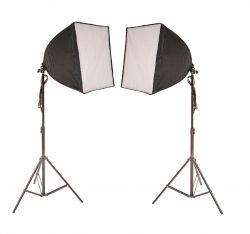 Kit de Iluminação 40x40 Cm Soft Star Light Luz Fria e tripé de 2mt S/ Lâmpada