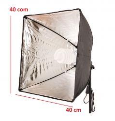 Kit de Iluminação 40x40 Cm Soft Star Light Luz Fria e tripé de 2mt Com Girafa S/ Lâmpada