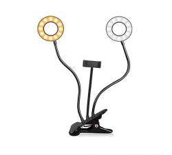 RING LIGHT DUPLO + ADAPTADOR SMARTFONE PARA LIVES
