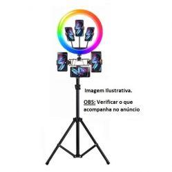 Kit para Smartphones Selfie Ring Light foto e vídeo youtubers
