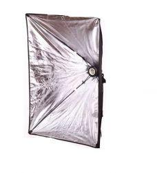 Iluminador Estúdio Softbox Light 50x70 Cm Com Tripé 2m