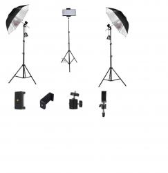 Kit Iluminação Video Aula Soquete Prata Ead Trip Celular