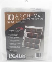 Porta Negativos 120 (120-4UB) 12 Cromos 6x7cm Folhas Plásticas