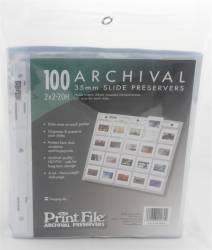Porta Slides 35mm (2X2 20H) 20 Slides Arquivo Suspenso Folhas Plásticas