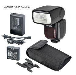 Flash V850 Godox Greika Speddlight com Bateria – Universal para Câmeras com Sapata Padra ISO.